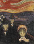 Рис. 1.  Картина Э. Мунка «Тревога»