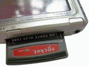В КПК может быть установлен WLAN Compact Flash