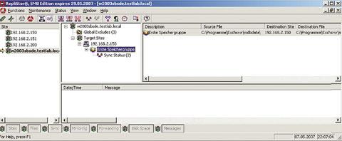 Рисунок 3. При помощи решений тиражирования на базе IP, в частности EMC RepliStor, данные филиалов можно сохранять в информационной системе центрального офиса и защищать серверы приложений при помощи резервных систем.