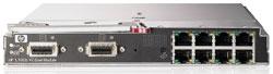 Модули HP Virtual Connect Ethernet имеют 16 гигабитных портов для подключения сетевых адаптеров лезвийных серверов иснабжены восемью гигабитными портами идвумя 10‑гигабитными интерфейсами для взаимодействия соборудованием локальных сетей