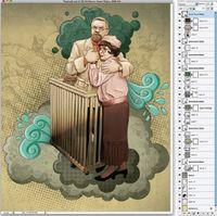 Рис. 9. Готовое изображение и палитра слоев законченного файла