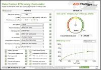 Рисунок 4. Калькулятор эффективности ЦОД от APC позволяет проверить влияние различных подходов к электропитанию и охлаждению на эффективность центра данных.