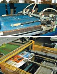 Есть две системы автоматического выклада: с помощью пневматических присосок (Argon Unostar, вверху) и механических зажимов (M&R Saturn Platinum, внизу)