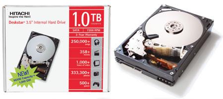 1-Тбайт жесткий диск Hitachi Deskstar 7K1000