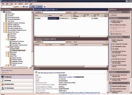 Просмотр задач базы данных вконсоли OperationsManager