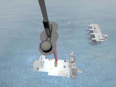 Предполагается, что для обеспечения маневренности космический лифт будет крепиться к кораблю