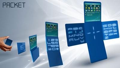 У телефона tiny Packet, созданного дизайнером Эмиром Рифатом Изиком, целых четыре откидных панельки. Они служат для просмотра электронной почты,