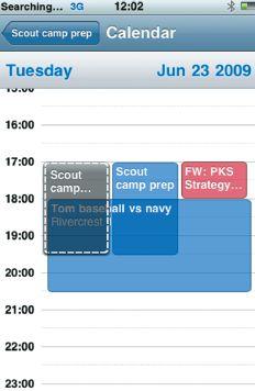 Планирование собраний в iPhone OS 3.0