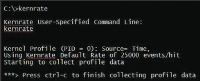 Экран 4. Пример начала работы Kernel Profiling Tool