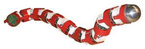 Роботы-змеи из алюминия длиной около полутора метров и предназначены для обследования и прочистки трубопроводов, которые для человека слишком узки