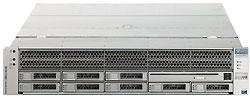 Сервер SunFire 4450 является самым компактным из четырехпроцессорных систем х64‑архитектуры, при высоте 2U он допускает установку до 128 Гбайт оперативной памяти идо 8 жестких дисков. Вчисле его достоинств пониженное энергопотребление за счет более эффективных блоков питания