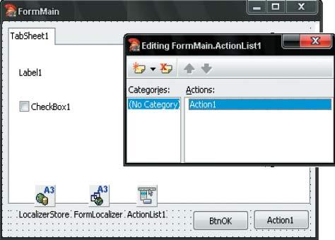 Рис. 6. Форма Delphi-приложения в разработке