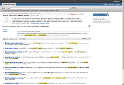 Powerset может делать намного больше, чем выдача привычного разбитого на десятки массива ссылок на результаты поиска
