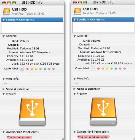 файловая система mac os под windows