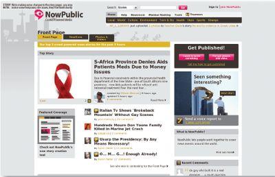 NowPublic — сервис новостей, генерируемых пользователями