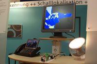 Специалисты Института имени Йозефа Фраунгофера демонстрировали целый спектр технологий распознавания жестов в трехмерном пространстве, в том числе, работу системы GestureID, позволяющей движением пальцев включать и выключать свет и менять параметры освещенности