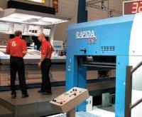 Rapida 162 может работать с материалами в диапазоне от 60 до 500г/м2