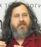 Ричард Столлман за любимым делом— пропагандой свободного программного обеспечения