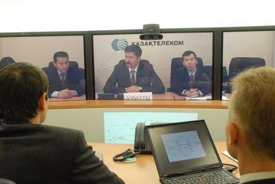 Среди возможностей новой сети «Казахтелекома» - проведение сеансов телеконференц-связи с применением технологии телеприсутствия