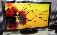 A 40-inch Sharp LCD TV