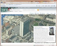 В новой системе Bing Maps используется мультимедийная технология Microsoft Silverlight, обеспечивающая более плавное масштабирование городской панорамы в трехмерном представлении