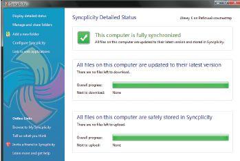 При выполнении резервного копирования программа Syncplicity учитывает загрузку интернет-канала и наиболее важные файлы сохраняет первыми