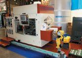 На полуавтоматическом книговставочном комплексе Precisa 12 на стенде GFS Ltd демонстрировались вставка книжных блоков в переплётные крышки, обжим и штриховка с механической скоростью 12 цикл./мин