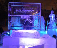 Ледяные скульптуры, которыми Google удостоила победителей в каждой номинации, будут стоять в саду Эрмитаж до 10 февраля