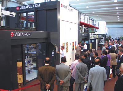 Флексомашина Vistaflex C: быстрая смена заказов с помощью роботизированного комплекса Vista-Port