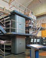 Компактное техническое решение на базе машины Universal XL двойной ширины позволяет получать издание при использовании двух печатных башен вместо четырёх