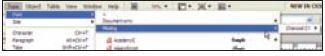 Рис. 1. Информация о шрифтах, использующихся в текущем файле