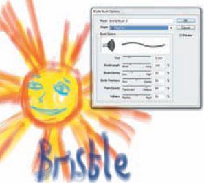 Прозрачность в свойствах Bristle Brush при наложении штрихов друг на друга позволяет добиться эффекта натуральных инструментов