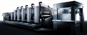 На стенде Heidelberg Speedmaster CX 102 в пятикрасочной конфигурации и лаковой секцией демонстрировалась с Prinect Inpress Control, системой увлажнения, фильтрации и температурного контроля CombiStar Pro