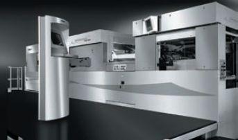 Bobst Printera 106 PER, автоматическая высечная система с функциями биговки производительностью 12000 лист./ч