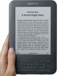Amazon Kindle 3. Выпущен в июле 2010 года, первая партия раскуплена за один день