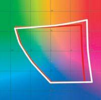 Цветовой охват PA271W (белый контур) действительно превышает Adobe RGB (красный контур). Результат сравнения с офсетом ясен без графиков