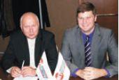 М. Таугер представил журналистам Михаила Кушнаренко, с 1 ноября занявшего пост исполнительного директора