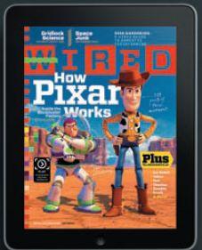 Обложка журнала Wired на iPad. Того самого, что разошёлся большим тиражом, нежели печатная версия