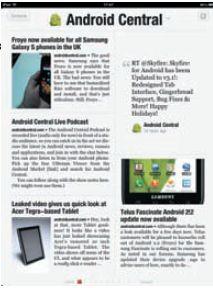 Страница Flipboard — в точности как страница журнала, только приложение