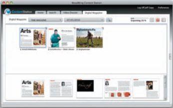 Компонент Content Station управляет всеми элементами цифровой публикации