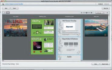 Структура публикации и порядок страниц определяются в Digital Content Bundler