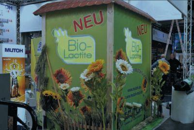 На выставке Viscom во Франкфурте Mutoh демонстрировала свои биочернила BioLactite