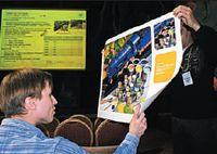 Собравшиеся на презентацию смогли оценить качество широкоформатной печати на бумаге из линейки SmartLine LFP