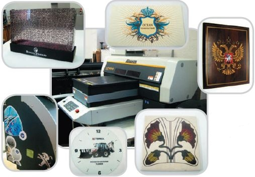 Материалы для Mimaki UJF-3042 — самоклейка, бумага, акрил и другие виды пластмасс, кафельная плитка, дерево