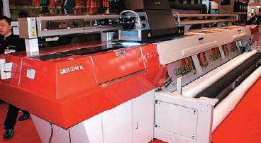 Вишенка на торте Agfa :JETI 5048 UV XL: поддержка одновременной печати с трёх рулонов разного диаметра