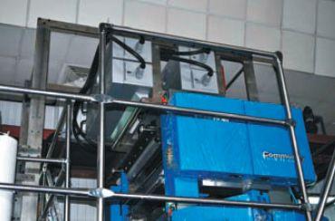 Установка УФ-сушки практически не требует дополнительного места, т. к. надстраивается над башнями, что для типографии