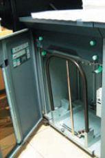 Выклад встопу на 5000 листов: как и на других печатных машинах в этой типографии, используются накопители максимальной ёмкости