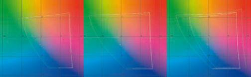 Слева (sRGB.png): сравнение измеренного цветового охвата монитора в режиме sRGB (зелёная линия) с цветовым охватом пространства sRGB (белая линия). Почти попал. В середине: сравнение измеренного цветового охвата монитора в режиме AdobeRGB (зелёная линия) с цветовым охватом пространства AdobeRGB (белая линия). В зелёной области цветового охвата монитора несколько не хватает. Впрочем, производитель обещал 98% покрытия AdobeRGB. Видимо, это как раз недостающие 2%