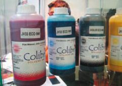Южнокорейская Colibri выпускает экосольвентные чернила Colibri JV3 и Colibri JV33/ JV5. Корейская продукция теперь позиционируется особым образом: она произведена не в развивающейся, а в солидной индустриальной стране. Colibri JV3 предназначены для головок Dx4 и оборудования Mimaki, Roland, Mutoh, а Colibri JV33/JV5 — для Dx5 и оборудования Mimaki, Mutoh