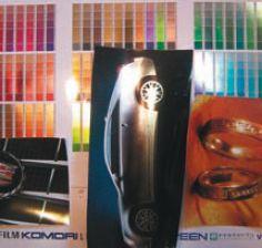 Образцы печати с холодным тиснением фольгой демонстрируют достоинства машины. Например, тиснить можно тонкими линиями и даже растром